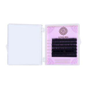 Черные ресницы Enigma микс 0,10/С+/7-12мм (6 линий)